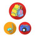 family holiday flat icons in set collection for vector image