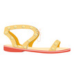 female summer sandal on flat sole isolated vector image