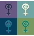Feminism symbol set vector image