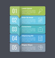 five steps infographics vector image vector image