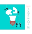 Flat design concept of team work vector image vector image