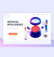 flat design isometric artificial intelligence vector image