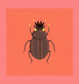 flat shading style bug scarab vector image vector image
