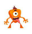 funny one eyed monster with its tongue out vector image vector image