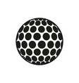 golf ball icon on white background vector image vector image