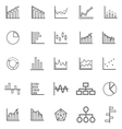 Graph line icons on white background vector image vector image