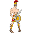 greek god ares cartoon vector image