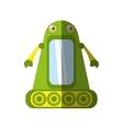 Green robot technology innovation shadow