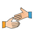 hands giving the five vector image