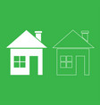 house icon white color vector image vector image