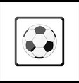 icon with a soccer ball vector image vector image