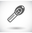 Ignition key single icon vector image