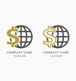 investments money logo design vector image vector image