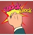 Knock door hand vector image vector image