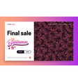 landing page - final sale autumn leaves on the vector image