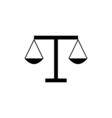 Law Icon Flat vector image