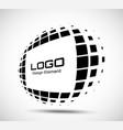 logo perspective frame rectangle dots emblem vector image vector image