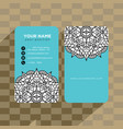 mandala pattern name card template vector image vector image