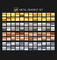 metal gradient collection vector image