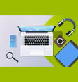 mobile computer app online top angle view vector image vector image
