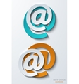modern email background vector image