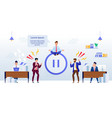 office relax and meditation pause in work banner vector image vector image