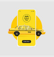 online taxi ordering service banner design yellow vector image