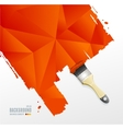 paint brush and triangle background vector image vector image