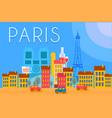 paris travel landmarks city architecture vector image vector image