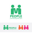 people logo vector image