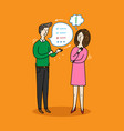 people talking and thinking doodle elements vector image vector image