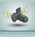 photo camera with wings isolated on white vector image vector image