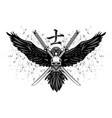 raven sword skull 0003 vector image vector image