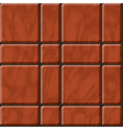 Reddish polished stone tiles texture vector image