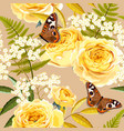 Seamless vintage flowers