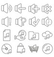 set of icons in line style sound and music vector image vector image