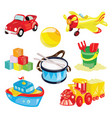 set of toys for children for vector image vector image