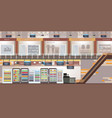 shopping mall with modern retail store and vector image vector image