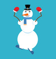 snowman yoga relaxation and meditation new year vector image vector image