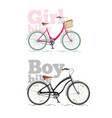 sports bike for city flat bike isolated on vector image vector image