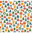 Stock pattern of winter and Christmas vector image vector image