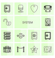 system icons vector image vector image