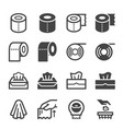 tissue paper icon set vector image vector image
