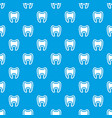 tooth with root pattern seamless blue vector image vector image