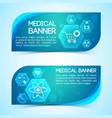 treatment and healthcare blue horizontal banners vector image vector image