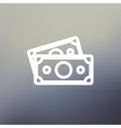 Two blank bills thin line icon vector image