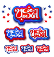 USA labels vector image vector image