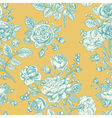 Vintage seamless pattern with blue roses vector image vector image