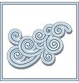 Wavy swirls vector image vector image