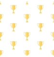 Winner cup trophy seamless pattern vector image vector image